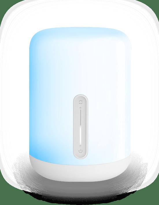 Mii bedsidelamp blauw